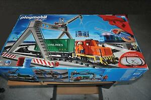 Playmobil® 4085 Box Train Wagon Rail Portique Grue Tlc Rc Lgb Accessoire ☆ 4
