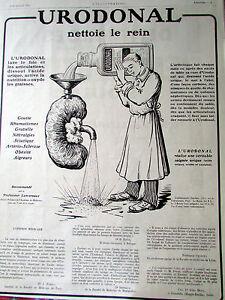 URODONAL NETTOIE LE REIN MEDICAMENT 20 PUBLICITE ANCIENNE