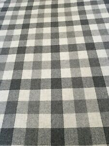 Yorkshire-100-Wool-Plaid-Black-Check-Curtain-Craft-Fabric-1-Metre