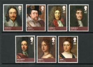 2010 HOUSE OF STUART Stamp Set MNH Kings Queens SG3087-3093 GB Unmounted UMM