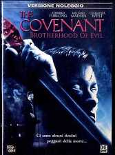 THE COVENANT Edward Furlong Michael Madsen Chandra West DVD HORROR Usato