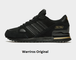Details about Adidas ZX 750 Men's Trainers Black Gold Suede Shoes Limited Edition All Sizes
