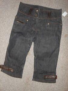 138-10-Blacky-Dress-Damen-3-4-Jeans-Hose-Gr-38-Denim-Damenjeans-blau-Caprijeans