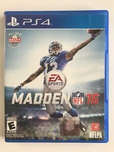 Details about Madden NFL 16 (PlayStation 4, 2015) PS4 GAME DISC AND CASE  FAST FREE SHIPPING!!!