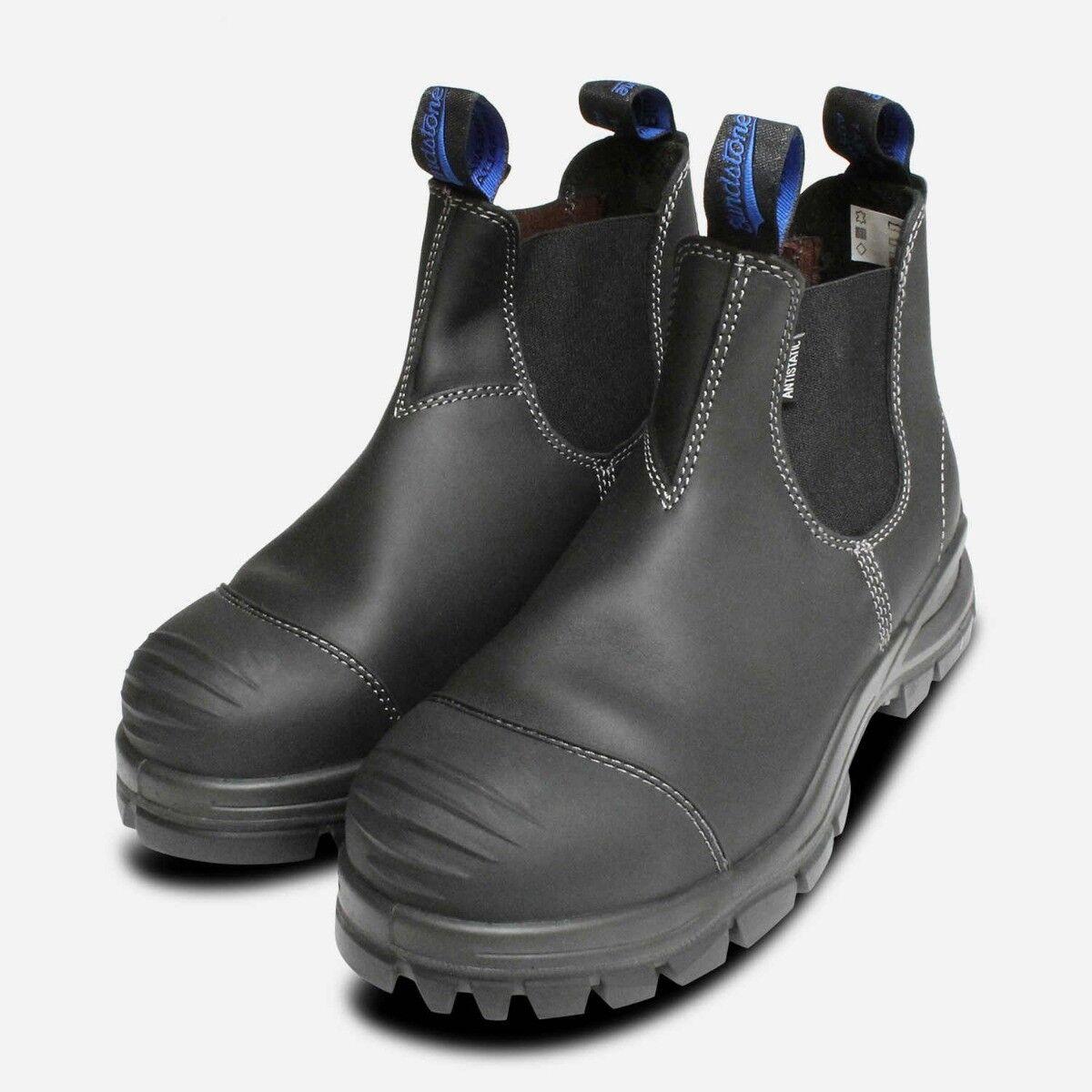 azulndstone 910 Seguridad Punta de Acero botas Color Negro Ce S3