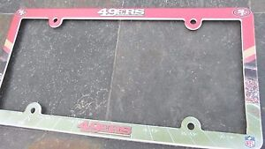 1 San Francisco 49ers EZ View PVC Car or Truck License Plate Frame