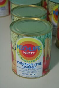 Vintage-1970s-Neo-Life-NEST-Stroganoff-Style-Casserole-Can-Full-Unopened-Storage
