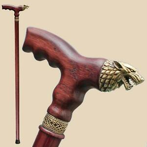 Brass-Direwolf-Wooden-Walking-Stick-Wolf-Head-Cane-for-Men-Women-Fashionable