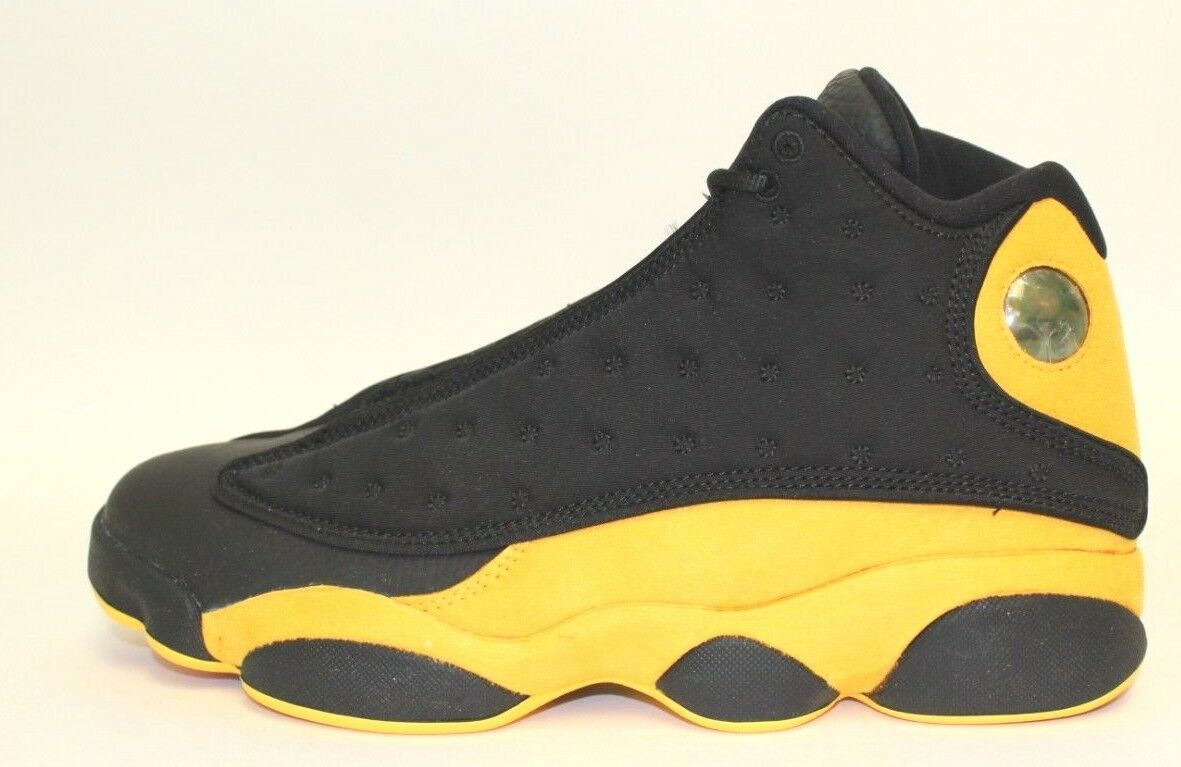 Air Jordan 13 Retro Black and Yellow 414571-035 Rare Size 10