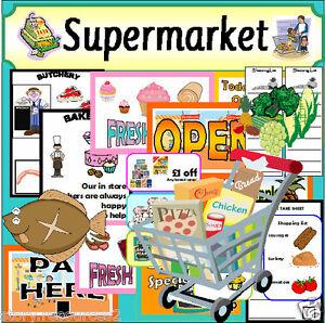 supermarket shop roleplay teaching resources role play teacher resource ks1 eyfs ebay. Black Bedroom Furniture Sets. Home Design Ideas