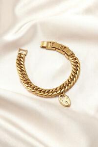 Stella-amp-Dot-Heart-Lock-Bracelet-Stealladot-bracelets-for-women-GOLD