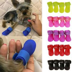 4Pcs Dog Pet Cute Rain Boots Waterproof Protective Boots Shoes Anti-Slip