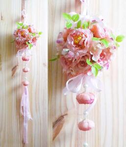 Details About Lantern Flower Ball Hanging Artificial Silk Flower Wedding Decor Light Pink