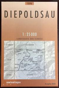 Swisstopo-1-25-000-Diepoldsau-Land-Karte-Landkarte-Jahrgang-2004