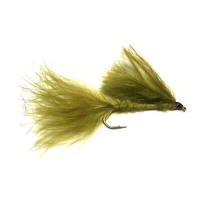 3 Brown Marabou Leech Trout Flies Fishing Flies Sizes 10 12