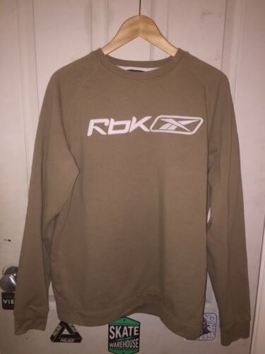 Beige Rbk Sweatshirt Medium Reebok Vintage Retro Jumper YRFwYqxzWA