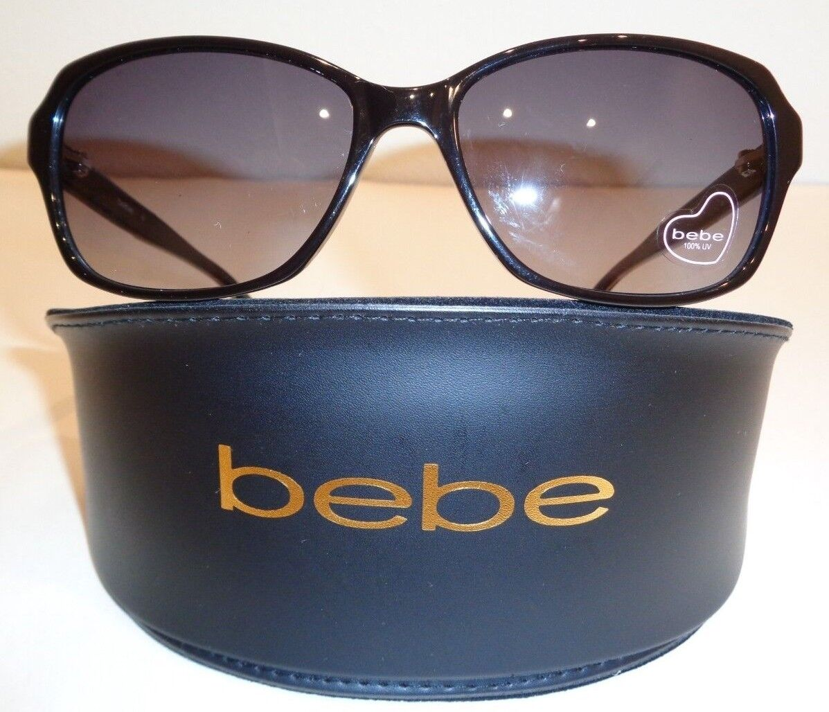 Bebe HUNGRY EYES BB7094 Jet Fashion Rectangular Sunglasses New Womens Eyewear
