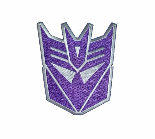 "Transformers Decepticon Head Iron-on patch 3 3//4/"" X 3/"" homologué CE QUE Comp."
