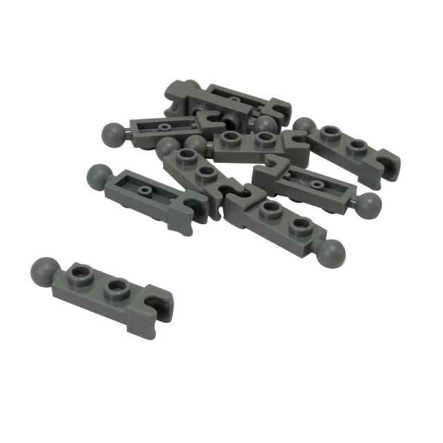20 New LEGO Black 1x2 Modified Plate with Handles on End 18649 hinge connector