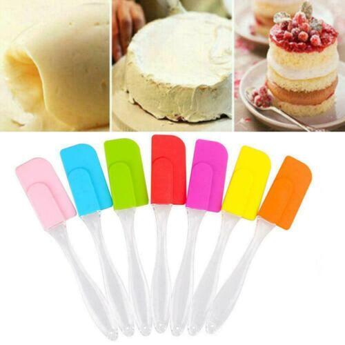 Silicone Spatula Cake Scraper Brushes Pastry Tools Kitchen Utensil Baking O4Q1