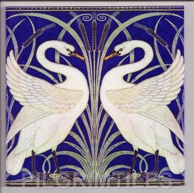Metric Porcelain Tile Walter Crane Heron /& Fish Walls Floor Kitchen Bathroom