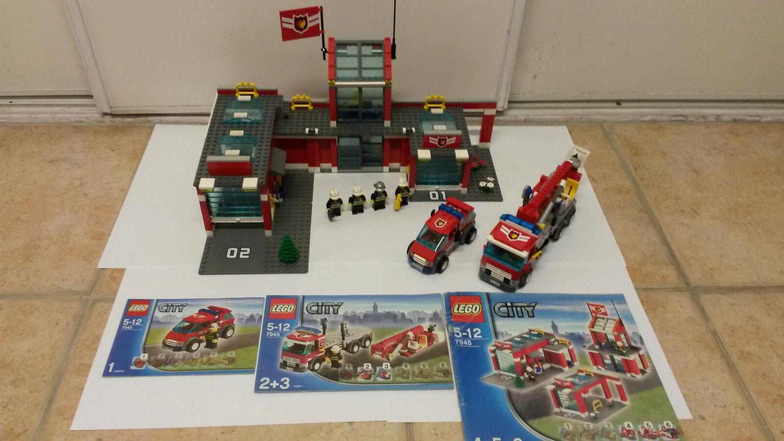 Lego ref 7945 la caserne des pompiers