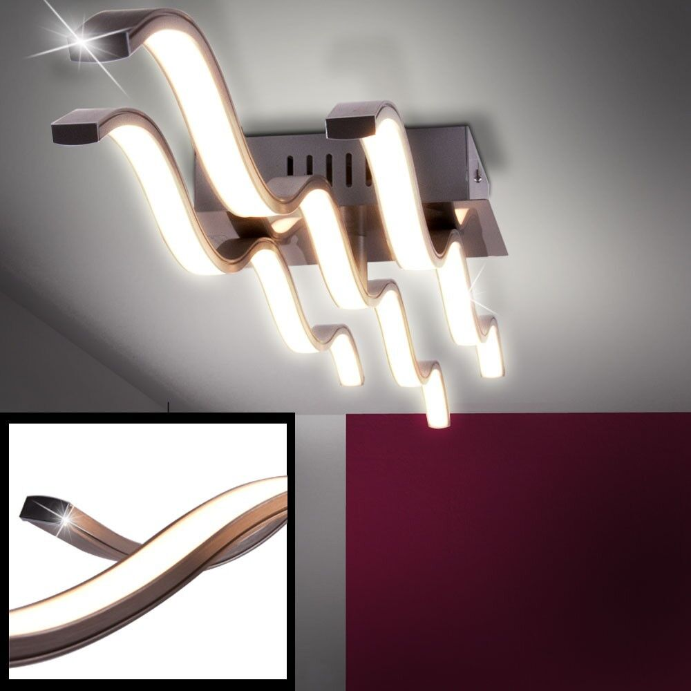 Plafonnier DEL 30 watts vagues luminaire plafond lampe LED éclairage chambre
