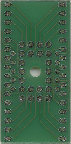 """Adapterplatine für PLCC32T auf DIP32 0.6/"""" Sockel. DE"""