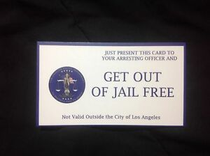 Details about LAPD get out of jail free cards !!! 10 pack !!! MADE IN USA  !!!