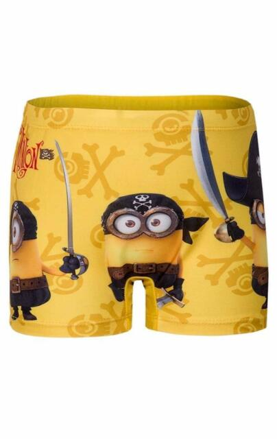15666f391c8ce Boys Despicable Me Minions Minion Swimming Short Swim Boxer Swimwear ...