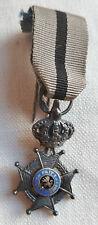 Miniature Médaille CROIX CHEVALIER ORDRE DE LEOPOLD BELGIQUE ARGENT MEDAL