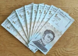 10xVENEZUELA 1.000.000 Million Bolivares note UNC 2021 pick NEW