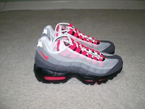 Details about Mens SZ 3.5 Womens SZ 5.. Nike Air Max 95 OG White Red AT2865 100 Neon 97 1