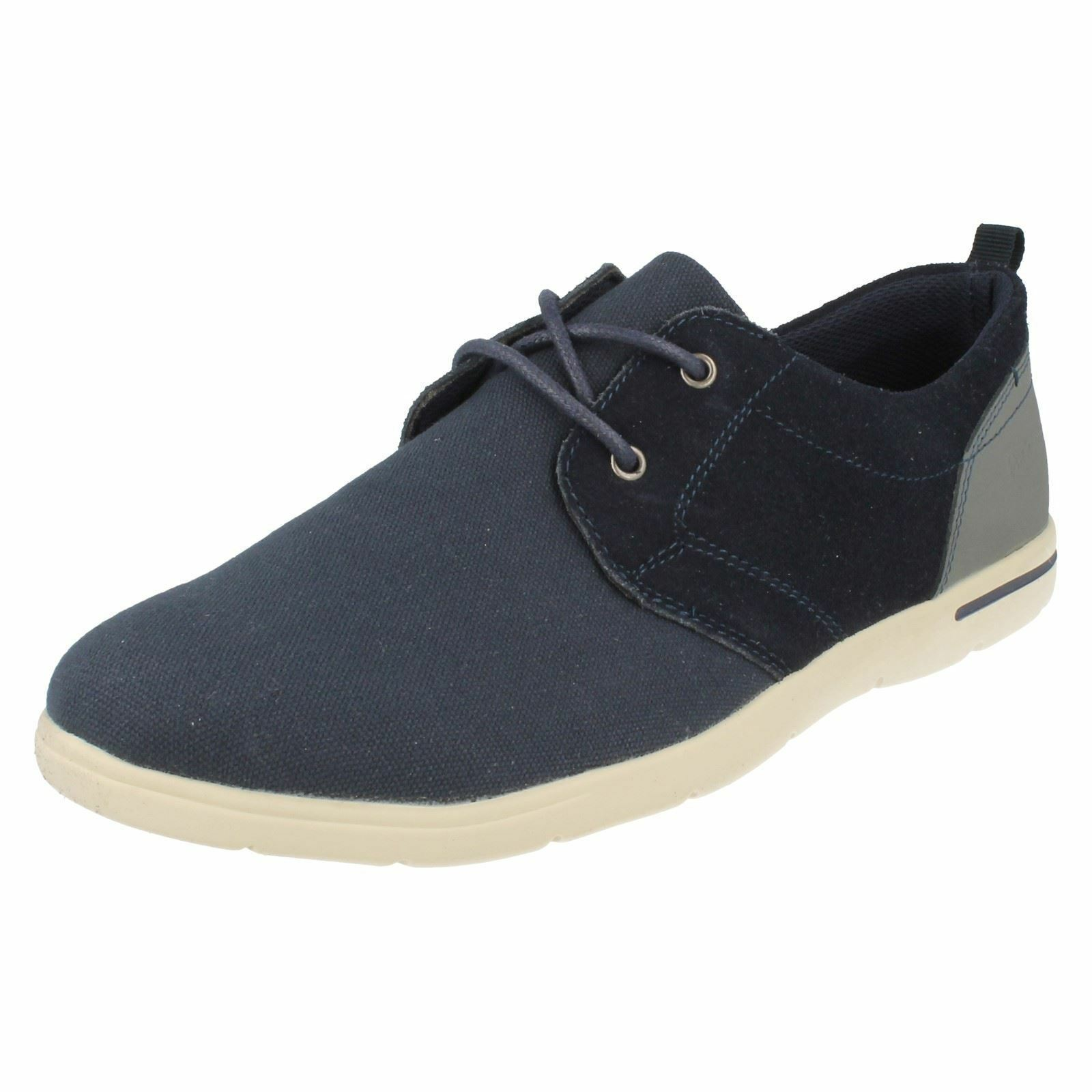 PADDERS LIAM MENS LACE UP ROUND TOE FLAT F FITTING SMART NAVY CASUAL PUMPS SHOES