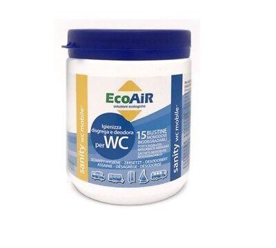 Sanity Wc Polvere 15 Bustine Per Serbatoio Acque Nere - Princio Attivo Aqua Kem Per Vincere Una Grande Ammirazione