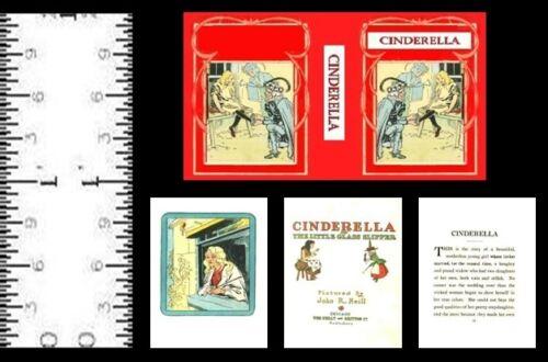 1:12 SCALE MINIATURE BOOK  CINDERELLA JOHN R.NEILL