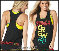 Zumba Instructor Crew Loose Tank,racerback,top Dancefr.convention Rare S M L