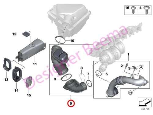 JS BMW Filtered Air Pipe With Resonator 1 2 4 F20 F21 F22 F23 F30 F31 F32 F36