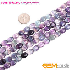Natural 13x18mm Multicolor Fluorite oval Gemstone Necklace 18/'/' ##ZY484