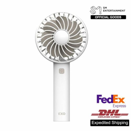 EXO SM Official Goods rechargeable FAN AIR COOLER MINI operated palmare