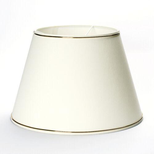 Stoffschirm Lampenschirm Aufnahme oben E27 Goldkante Boylampe Stehleuchte