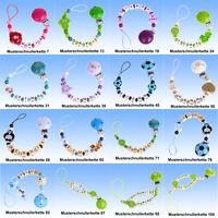 Schnullerkette mit Namen individuell UNIKAT NEU frei Auswahl Myschnullerkette 4
