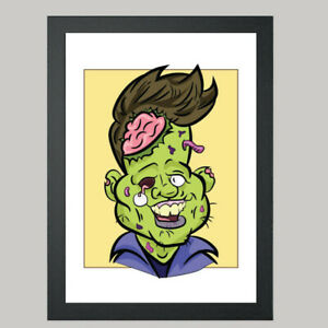 1 Person Digital Zombie Caricature From Photo - Personalised - Digital File