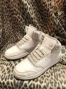 pretty nice 0402d de690 Details about Air Jordan Flight 1 Premium Shoes Sneakers High Tops Size  5.5Y Youth Kids White