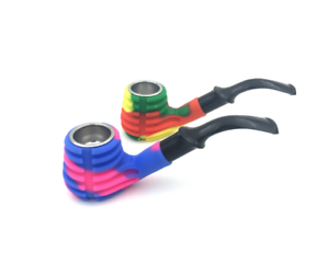 Color-silicone-Resin-Pipes-Smoking-Tobacco-Pipe-Cigarette-Smoke-Filter-Pipes