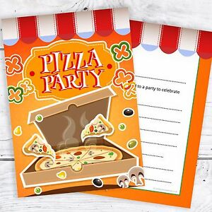 Image Is Loading Pizza Party Invitations Kids Birthday Invites A6 Postcards