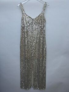 Zara-Sequin-Dress-Midi-Party-Size-M