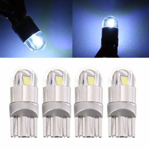 Useful 4Pcs T10 W5W 168 2 LED 6500K Car interior Reading Light 12V DC White Lamp