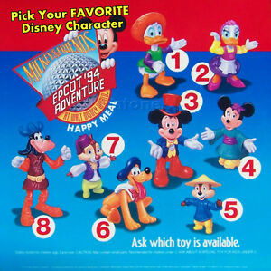 MIP-McDonald-039-s-1994-Mickey-Mouse-EPCOT-ADVENTURE-Disney-VARIATION-Minnie-CHOICE