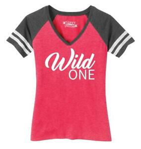 Ladies-Wild-One-Game-V-Neck-Tee-Country-Free